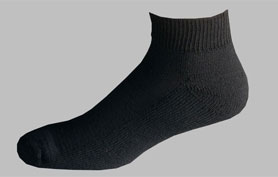 D185B-Men's black ankle sport socks